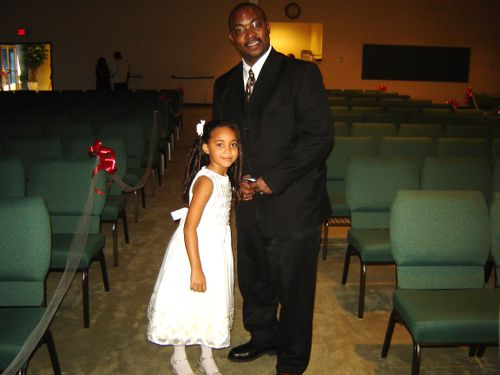 Flower girl and daddy!